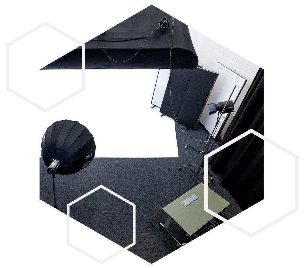 Bovenaanzicht deel fotostudio filmstudio - studio Ikoon TIlburg
